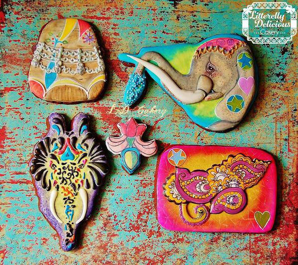 Litterely Delicious Cakery - The Painted Elephants of Indea