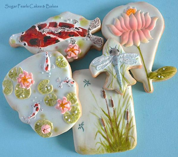 Sugar Pearl Cakes and Bakes - Koi Pond