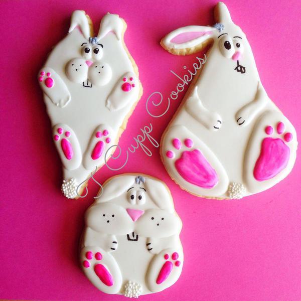 T Cupp Cookies - Funny Bunnies