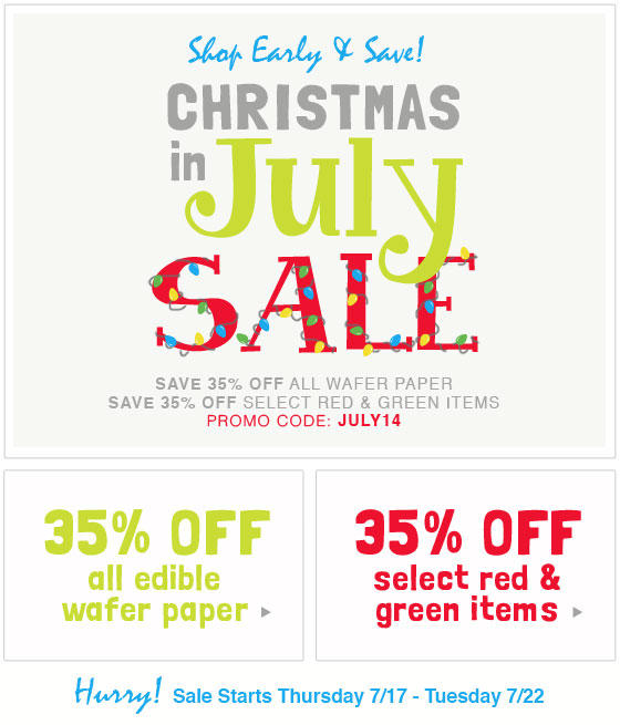 Christmas In July Sale Images.Christmas In July Sale At Fancy Flours Cookie Connection