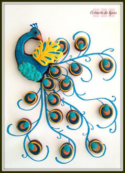 Multi-Color Peacock Cookie - El Rincon de Glass - 8
