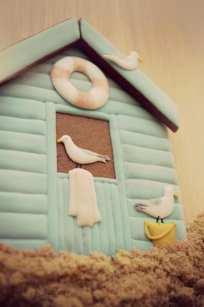 Beach hut cookie