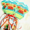 Top Cookies on Sticks - Crab Onesies: By Shannon Tidwell