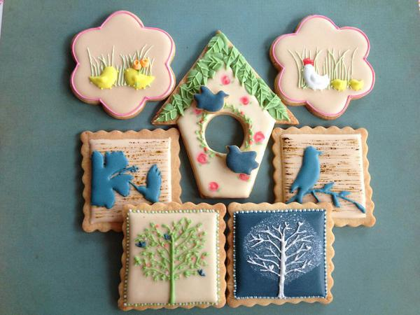 Bird Cookie Set - vert - Animal