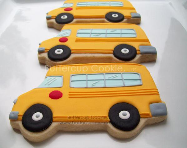 School Bus - Buttercup Cookie - 2