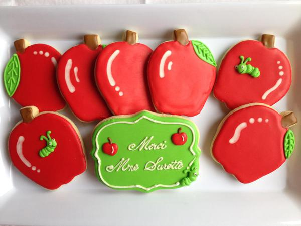 Thank You Teacher Cookies 2014 - Cheerful Mommas Custom Art Cookies - 4