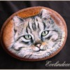 Handpainted Cat: Cookies and Photo by Evelindecora