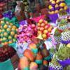 Lavish Fruit Stall at Mercado Municipal: Fuzzy Image Courtesy of Julia's iPhone