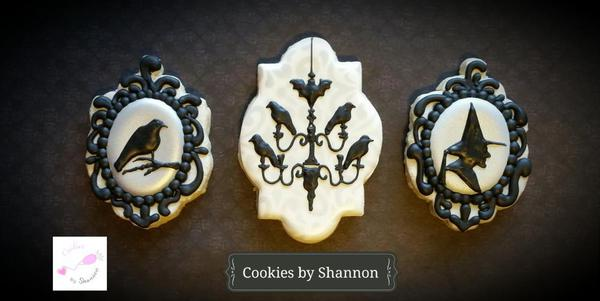 Victorian-Inspired Halloween Close-up - Cookies by Shannon -5