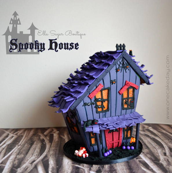 Halloween Spooky House - One Cake a Day - 3-d