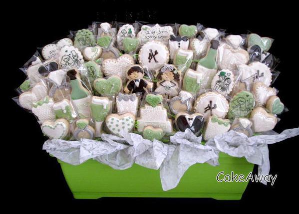 Wedding Party Cookies - Sarit-CakeAway - Bouquet