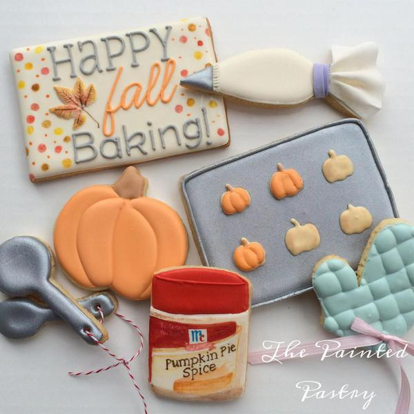 Fall Baking Cookies - The Painted Pastry - Cookies that Look Like Other Food