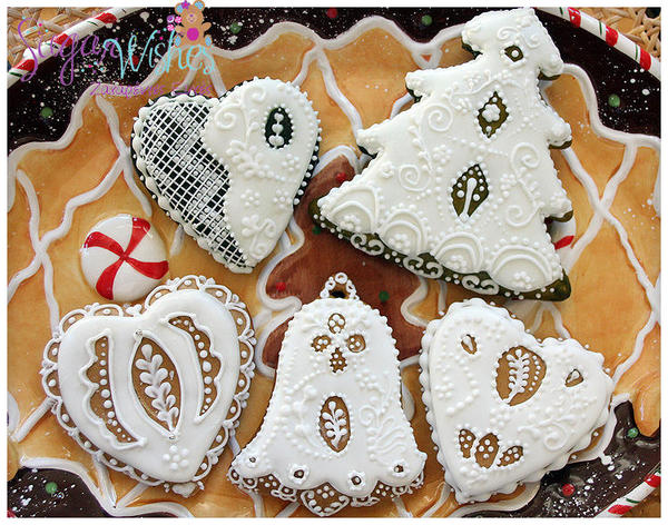 GingerbreadChristmas Cookies - Tina at Sugar Wishes - Needlepoint