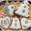 Best of Needlepoint Cookies - Gingerbread Christmas Cookies