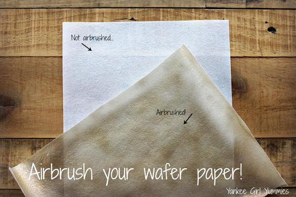 Wafer Paper Flower Step 1