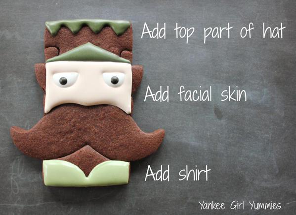 Step 5- add hat:skin:shirt