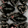 #2 - Floral Black Valentine's Day Cookies: By mintlemonade