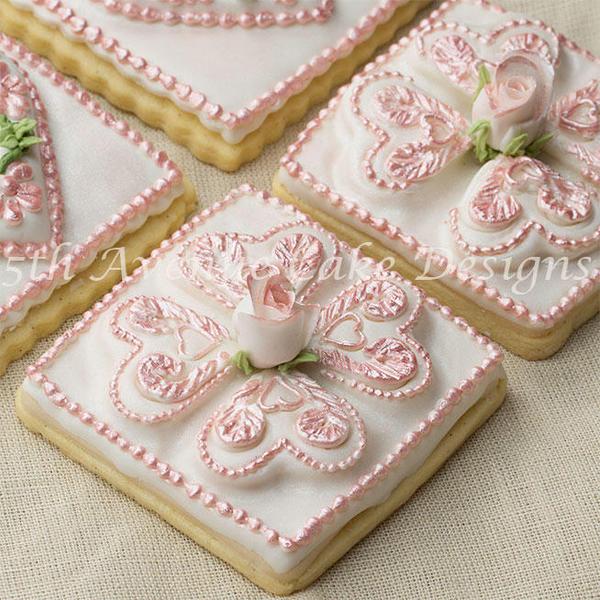 Romantic Tufted Heart Cookies - bobbiebakes - 4