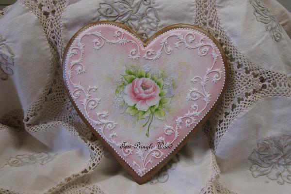 Gingerbread Valentine Heart - Teri Pringle Wood - 7