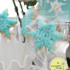 Frozen Cake and Snowflake Cookie Pops