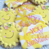 You Are My Sunshine: Cookies and Photo by The Painted Pastry