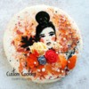 Handpainted Woman: Cookie and Photo by Tammy Holmes