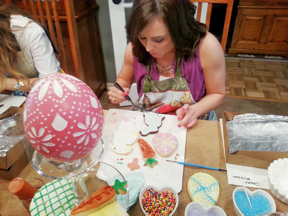 Easter Decorating Class instructed by Marcie McCutchen of Cookie Crafter