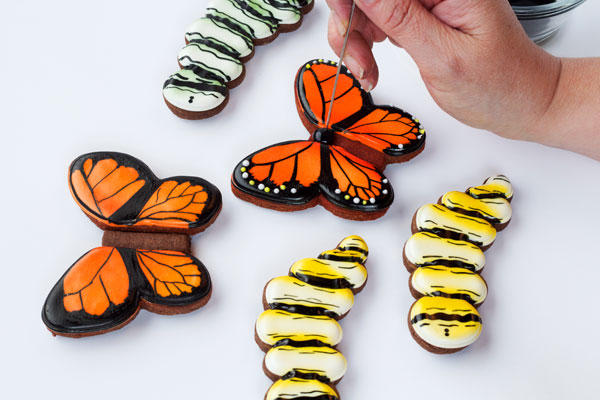 Simple butterfly cookies - simple sugar cookies decorated with royal icing- www.thebearfootbaker.com