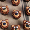 Bear Cupcakes with Royal Icing Transfers: Cookies and Photos by Lisa Snyder