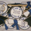 Grad Cookies: with handcut diplomas from a clipart template.
