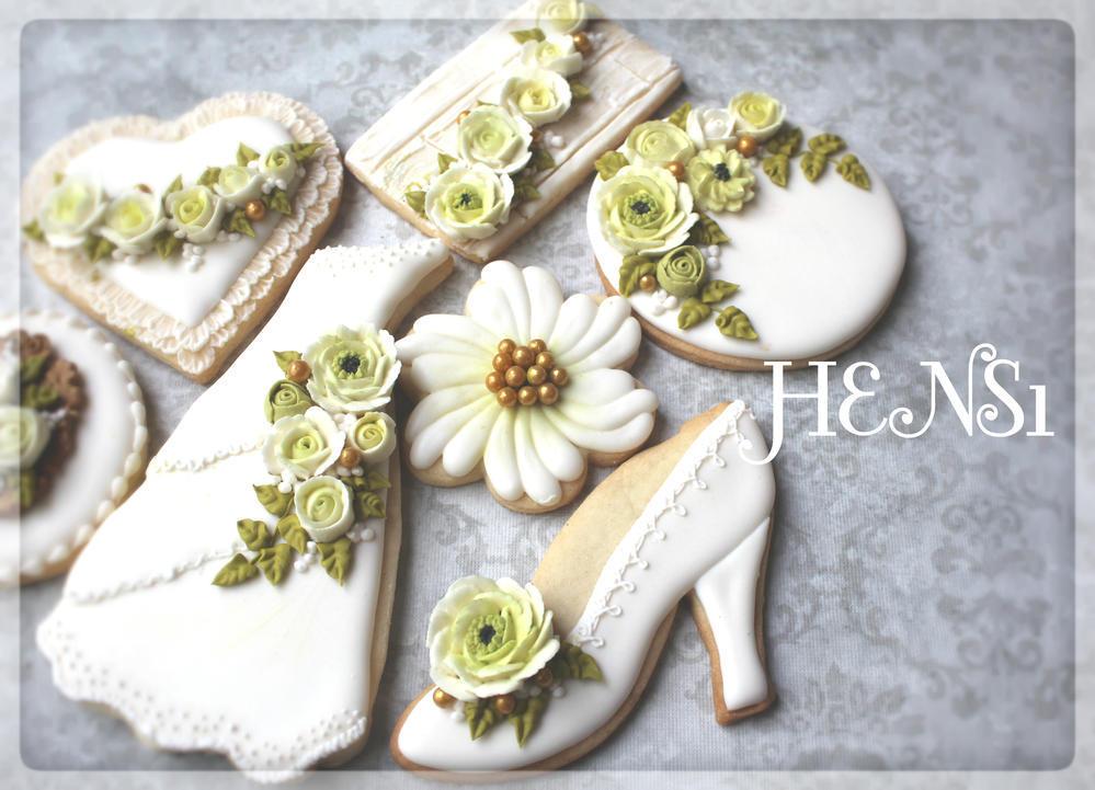 1 Garden Wedding Cookies By HENS1