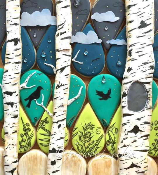 Raindrops on Birches