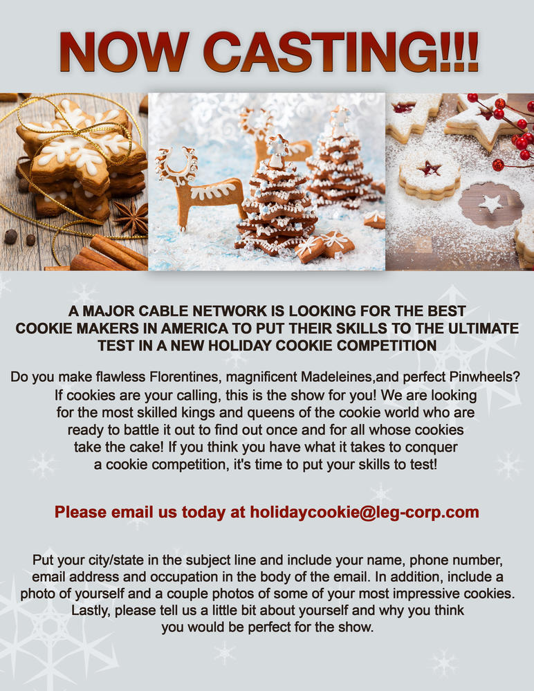Food network now casting for a holiday cookie special cookie take action forumfinder Images