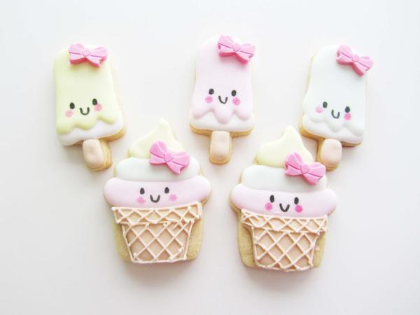 Kawaii Ice Cream Cookies by Marie at LilleKageHus