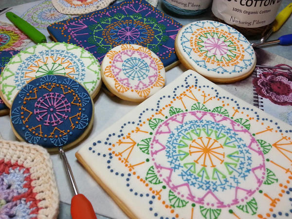 Crochet Cookies Close-up