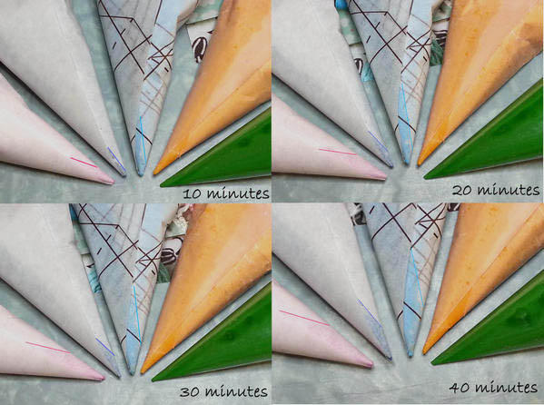 Cones at Time Intervals