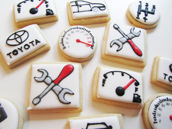 Car Cookies by Marie at LilleKageHus