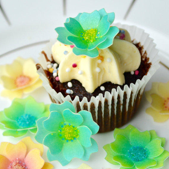 Edible Harlequin Sea 3D Flowers Tropical Blossom Collection