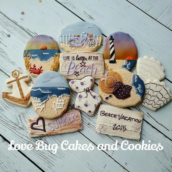 #6 - Purple Beach by Love Bug Cookies