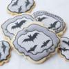 #3 - Wet-on-Wet Bat Cookies: By bobbiebakes