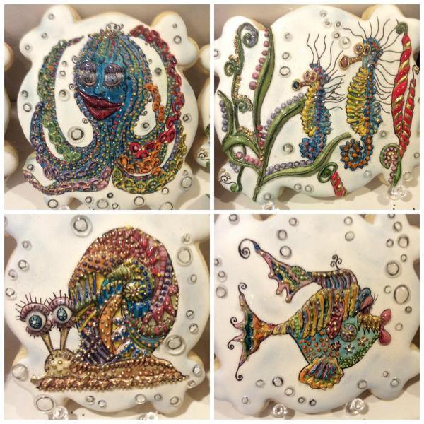 Sea Creature Collage
