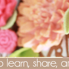 Floral Banner Example: Cookies and Photo by Julia M Usher