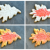 Oak Leaf Collage, Showing Application of Colour: Cookies and Photo by Honeycat Cookies