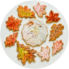 Autumn Leaf Wreath with Fairy: Cookies and Photo by Honeycat Cookies