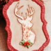 Finished - Burlap Christmas Cookie!: Cookie and Photo by Dolce Sentire