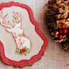 Where We're Headed - Burlap Christmas Cookie!: Cookie and Photo by Dolce Sentire