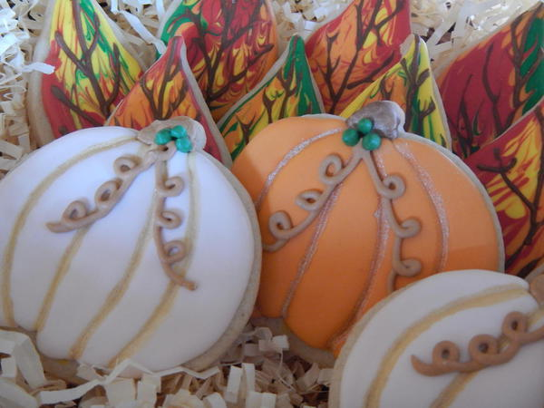 #9 - Autumn Leaves and Pumpkins by Queenb