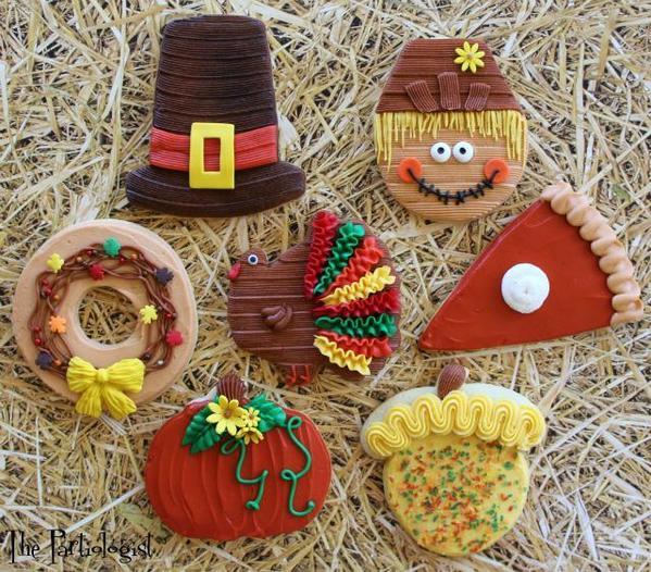 #4 - Buttercream Thanksgiving Cookies by Kim Heimbuck at The Partiologist