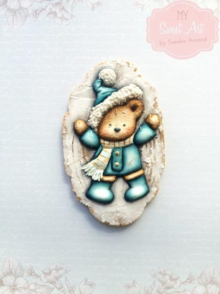 #3 - Winter Fun Bear Cookie by My Sweet Art