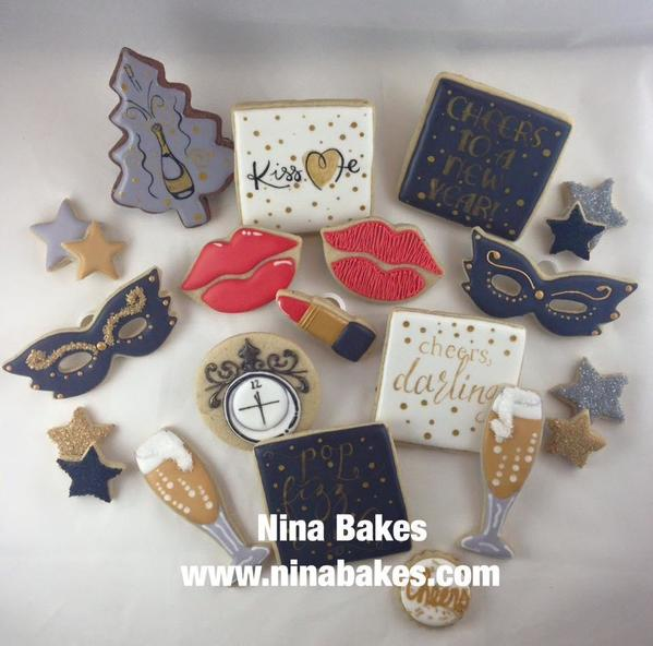 #9 - New Year's Eve Cookies by Christina Hopper